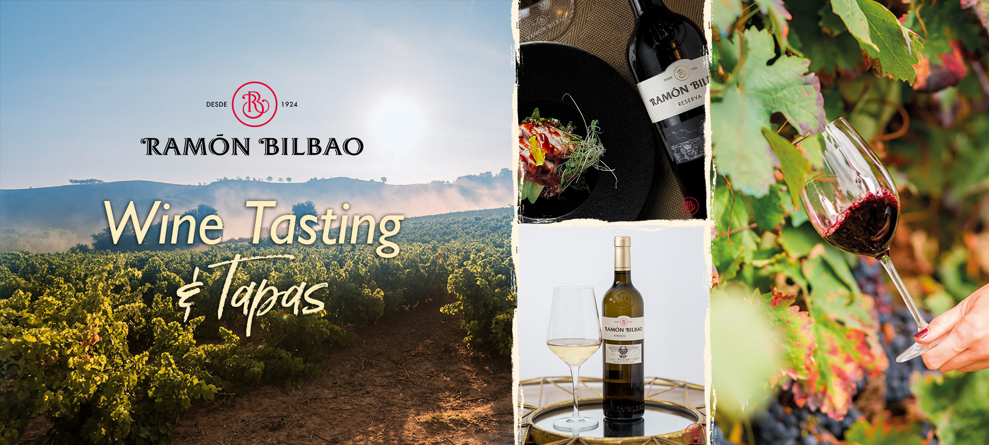 a banner promoting our wine tasting and tapas event.