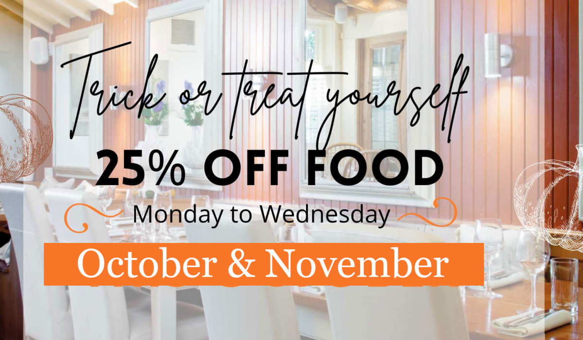 Read news article: Trick Or Treat Yourself – 25% off this October AND November!!